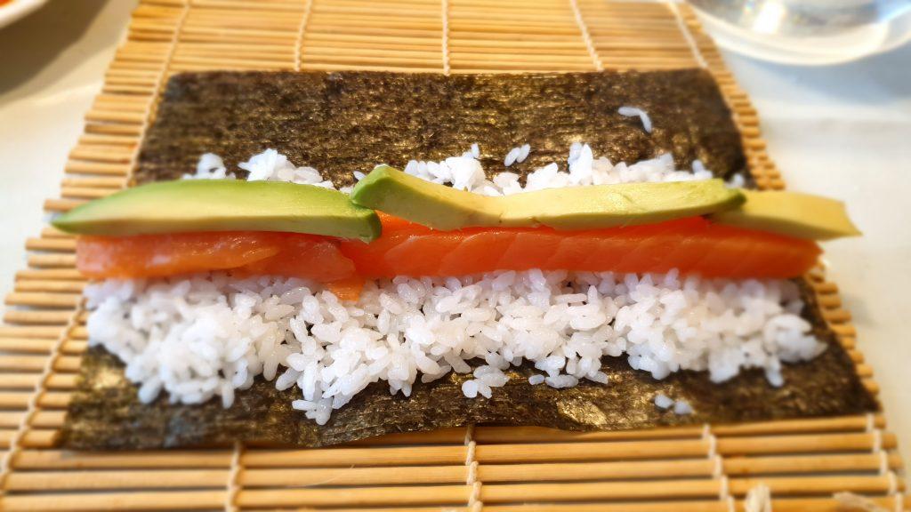Preparando el sushi